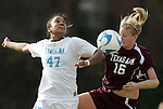 28 November 2008: North Carolina's Jessica McDonald (47) and Texas A&M's Emily Peterson (16). The University of North Carolina Tar Heels defeated the Texas A&M University Aggies 1-0 in double overtime at Fetzer Field in Chapel Hill, North Carolina in a Fourth Round NCAA Division I Women's college soccer tournament game.