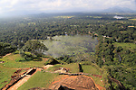 View of lake and forest from rock palace, Sigiriya, Central Province, Sri Lanka, Asia