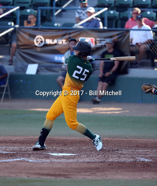 A.J. Miller plays in the 2017 Area Code Games on August 6-10, 2017 at Blair Field in Long Beach, California (Bill Mitchell)