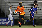 DURHAM, NC - NOVEMBER 25: Fordham's Rashid Nuhu (GHA). The Duke University Blue Devils hosted the Fordham University Rams on November 25, 2017 at Koskinen Stadium in Durham, NC in an NCAA Division I Men's Soccer Tournament Third Round game. Fordham advanced 8-7 on penalty kicks after the game ended in a 2-2 tie after overtime.