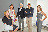 From left, Nancy Schulman, partner &amp; executive director of strategy, Barbara Apple Sullivan, founder &amp; managing partner, Val McGovern, partner &amp; CFO, John Paolini, partner &amp; executive creative director, Nicole Ferry, partner &amp; executive director of strategy<br /> <br /> <br /> Photo by Danny Ghitis