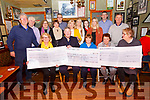 Cheques Presentation: Members of the Listowel Pantomime Group making cheque presentations to Scoil Realta na Maidne, Kerry Parents & Friends & Listowel Hospice, the proceeds of the pantomime staged during the Christmas holidays at John B Keane's bar on Friday night last.