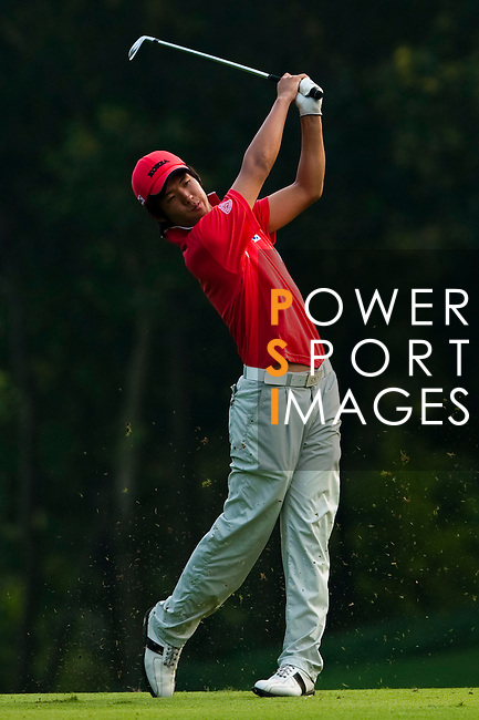 SHENZHEN, CHINA - OCTOBER 31: Chang-Won Han of South Korea plays his second shot on the 17th hole during the day three of Asian Amateur Championship at the Mission Hills Golf Club on October 31, 2009 in Shenzhen, Guangdong, China.  (Photo by Victor Fraile/The Power of Sport Images) *** Local Caption *** Chang-Won Han