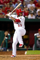 Rainel Rosario (29) of the Springfield Cardinals at bat during a game against the St. Louis Cardinals at Hammons Field on April 2, 2012 in Springfield, Missouri. (David Welker/Four Seam Images)