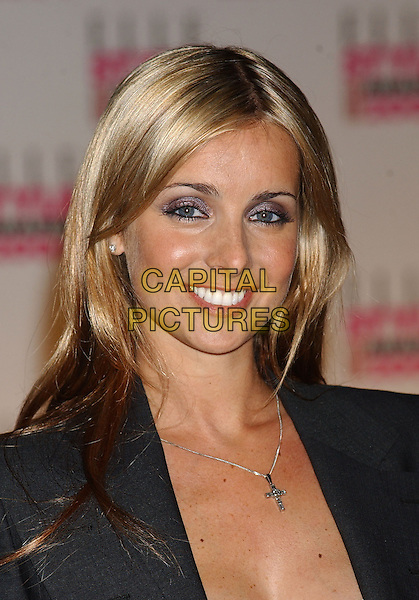 LOUISE REDKNAPP         .Elle Style Awards at the Natural History Museum.16 February 2004.headshot, portrait, cross crucifix necklace.www.capitalpictures.com.sales@capitalpictures.com.©Capital Pictures