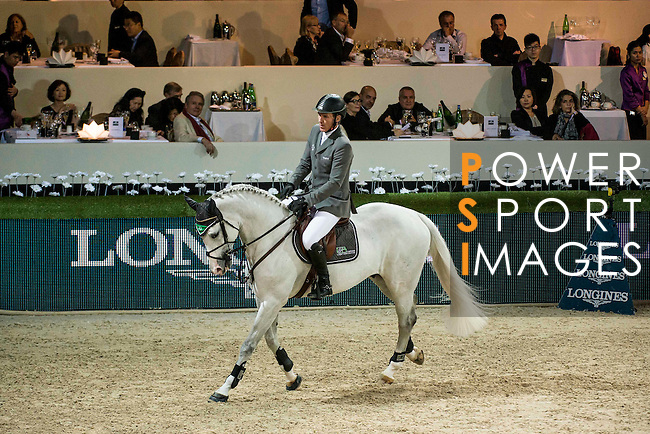 Ludger Beerbaum of Germany rides Colestus in action at the Longines Grand Prix during the Longines Hong Kong Masters 2015 at the AsiaWorld Expo on 15 February 2015 in Hong Kong, China. Photo by Aitor Alcalde / Power Sport Images