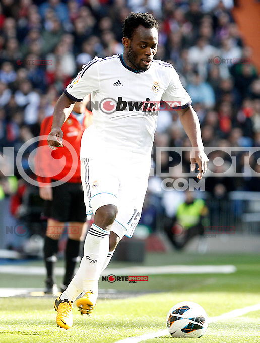 Real Madrid's Michael Essien during La Liga match.March 02,2013. (ALTERPHOTOS/Acero) /NortePhoto