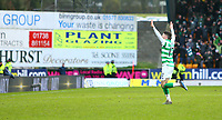 1st March 2020; McDairmid Park, Perth, Perth and Kinross, Scotland; Scottish Premiership Football, St Johnstone versus Celtic; Ryan Christie of Celtic celebrates after his free kick goes straight into the net and puts Celtic into a 1-0 lead in the 81st minute