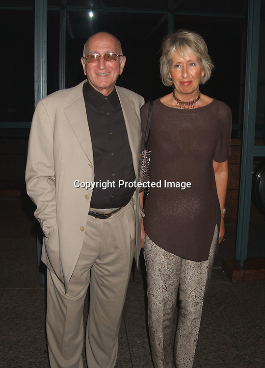 """Dominic Chianese and wife Jane                                   ..at a Screening of Alan Rudolph's """"The Secret Lives of ..Dentists on July 29,2003 at the Walter Read Theatre in..Lincoln Center. Photo by Robin Platzer, Twin Images"""