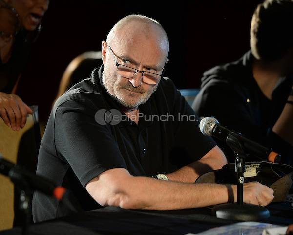HOLLYWOOD FL - JUNE 11: Phil Collins, Nicholas Collins and Orianne Collins attend The Little Dreams Foundation auditions at Paradise Live held at the Seminole Hard Rock Hotel & Casino on June 11, 2016 in Hollywood, Florida. Credit: mpi04/MediaPunch
