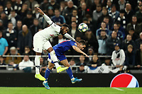 26th November 2019; Tottenham Hotspur Stadium, London, England; UEFA Champions League Football, Tottenham Hotspur versus Olympiacos; Danny Rose of Tottenham Hotspur competes for the ball with Daniel Podence of Olympiakos
