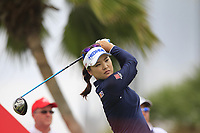 So Yeon Ryu (KOR) in action on the 12th during Round 1 of the HSBC Womens Champions 2018 at Sentosa Golf Club on the Thursday 1st March 2018.<br /> Picture:  Thos Caffrey / www.golffile.ie<br /> <br /> All photo usage must carry mandatory copyright credit (&copy; Golffile | Thos Caffrey)