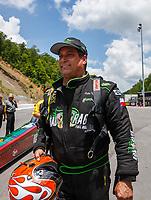 Jun 17, 2017; Bristol, TN, USA; NHRA top fuel driver Kebin Kinsley during qualifying for the Thunder Valley Nationals at Bristol Dragway. Mandatory Credit: Mark J. Rebilas-USA TODAY Sports