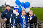 Pat O'Sullivan, Margaret Lynch, Breda O'Sullivan and Kitty Doyle showing their support for Templenoe last Sunday  in Killmallock for the AIB GAA Football All Ireland Junior Club Championship.
