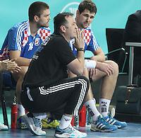 25.01.2013 Barcelona, Spain. IHF men's world championship, Semi-final. Picture show Slavko Goluzain actionduring game between Spain vs Slovenia at Palau St. Jordi