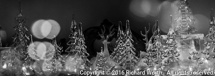 A close-up image cropped to 8.5x3 of a Christmas dispaly inside an elaborate venue in Broomfield, Colorado, on Tincup Circle