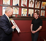 Ben Pratt and Max Klimavicius attends the Ben Platt Sardi's Portrait unveiling at Sardi's on May 30, 2017 in New York City.