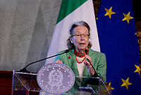 Roma,14 Marzo 2017<br /> Giulia Maria Crespi presidente onorario FAI.<br /> Presentazione della 25ma edizione delle 'Giornate Fai di Primavera' a Palazzo Chigi