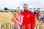 Lauren Garczynski with Prince the dog and Seamie O'Shea from Tralee at the Blennerville Pony & Agricultural Show on Sunday.