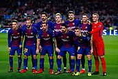 5th December 2017, Camp Nou, Barcelona, Spain; UEFA Champions League football, FC Barcelona versus Sporting Lisbon; FC Barcelona team before start the match