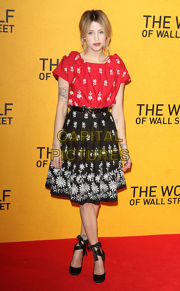 LONDON, UNITED KINGDOM - JANUARY 09: Peaches Geldof attends the UK Premiere of 'The Wolf Of Wall Street' at Odeon Leicester Square on January 9, 2014  in London, England.<br /> CAP/ROS<br /> &copy;Steve Ross/Capital Pictures