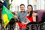 Kerry Rose, Breda O'Mahony with her dad Sean at the Rose Hotel, Tralee on Tuesday.