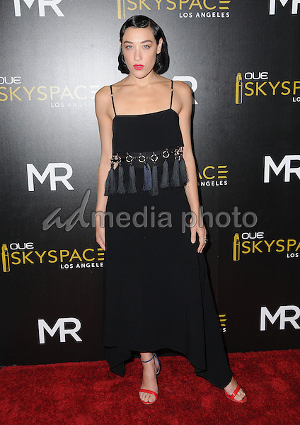 14 July 2016 - Los Angeles, California. Mia Moretti. Arrivals for the Launch of OUE Skyspace LA held at US Bank Tower. Photo Credit: Birdie Thompson/AdMedia