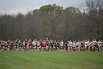 EVANSVILLE, IN - NOVEMBER 18: The start of the Division II Men's Cross Country Championship takes place at the Angel Mounds on November 18, 2017 in Evansville, Indiana. (Photo by Tim Broekema/NCAA Photos/NCAA Photos via Getty Images)