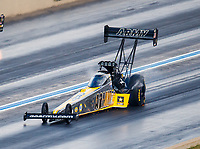 Jul 22, 2017; Morrison, CO, USA; NHRA top fuel driver Tony Schumacher during qualifying for the Mile High Nationals at Bandimere Speedway. Mandatory Credit: Mark J. Rebilas-USA TODAY Sports