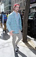 NEW YORK, NY - APRIL 9: Tyler Posey seen after an appearance on NBC's Today Show in New York City on April 9, 2018. <br /> CAP/MPI/RW<br /> &copy;RW/MPI/Capital Pictures