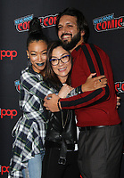 NEW YORK, NY - OCTOBER 6: Sonequa Martin-Green, Michelle Yeoh, Shazad Latif at the panel discussion for the new season of the CBS series Star Trek: Discovery during New York Comic Con 2018 at The Hulu Theater at Madison Square Garden in New York City on October 6, 2018. <br /> CAP/MPI/RW<br /> &copy;RW/MPI/Capital Pictures
