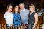 Kerry McCord, Eileen Whelan, Tom Quirke and Mary Lynch enjoying the Bon Jovee fundraiser in the Brandon Hotel on Saturday.