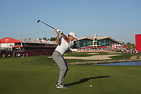 Sergio Garcia (ESP) on the 18th fairway during Round 3 of the Abu Dhabi HSBC Championship at the Abu Dhabi Golf Club, Abu Dhabi, United Arab Emirates. 18/01/2020<br /> Picture: Golffile | Thos Caffrey<br /> <br /> <br /> All photo usage must carry mandatory copyright credit (© Golffile | Thos Caffrey)