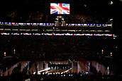 17th January 2019, The O2 Arena, London, England; NBA London Game, Washington Wizards versus New York Knicks; The O2 plays the national anthem of Great Britain