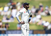 24th November 2019; Mt Maunganui, New Zealand;  England's Jofra Archer shows his frustration during play on day 4 of the 1st international cricket test match, New Zealand versus England at Bay Oval, Mt Maunganui, New Zealand.  - Editorial Use