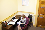 Natalie Roetzel reviews exoneration cases in her office located in downtown Dallas, Texas.  Roetzel is the Chief Staff Attorney of The Innocense Project of Texas.