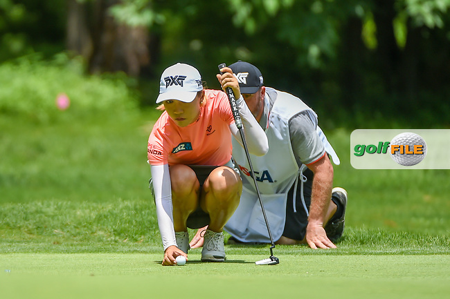 Lydia Ko (NZL) lines up her putt on 1 during round 1 of the U.S. Women's Open Championship, Shoal Creek Country Club, at Birmingham, Alabama, USA. 5/31/2018.<br /> Picture: Golffile | Ken Murray<br /> <br /> All photo usage must carry mandatory copyright credit (© Golffile | Ken Murray)
