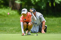 Lydia Ko (NZL) lines up her putt on 1 during round 1 of the U.S. Women's Open Championship, Shoal Creek Country Club, at Birmingham, Alabama, USA. 5/31/2018.<br /> Picture: Golffile | Ken Murray<br /> <br /> All photo usage must carry mandatory copyright credit (&copy; Golffile | Ken Murray)