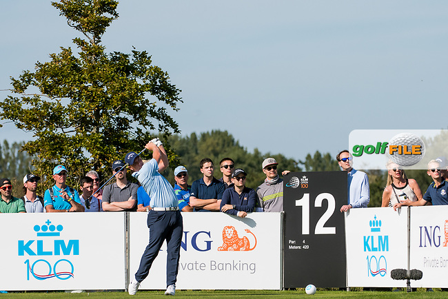 Callum Shinkwin (ENG) in action on the 12th hole during the 3rd round at the KLM Open, The International, Amsterdam, Badhoevedorp, Netherlands. 14/09/19.<br /> Picture Stefano Di Maria / Golffile.ie<br /> <br /> All photo usage must carry mandatory copyright credit (© Golffile   Stefano Di Maria)
