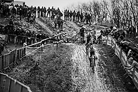 CX world champion Wout Van Aert (BEL/Crelan-Charles) leading the race in the first lap, followed closely by Mathieu van der Poel (NED/Corendon-Circus)<br /> <br /> Elite Men's Recon<br /> GP Sven Nys / Belgium 2018