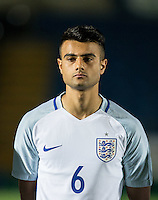 Easah Suliman (Cheltenham Town on loan from Aston Villa) of England U19 during the International friendly match between England U19 and Bulgaria U19 at Adams Park, High Wycombe, England on 10 October 2016. Photo by Andy Rowland.