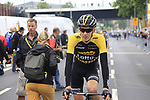 Robert Gesink (NED) Lotto NL-Jumbo at sign on in Dusseldorf before the start of Stage 2 of the 104th edition of the Tour de France 2017, running 203.5km from Dusseldorf, Germany to Liege, Belgium. 2nd July 2017.<br /> Picture: Eoin Clarke | Cyclefile<br /> <br /> <br /> All photos usage must carry mandatory copyright credit (&copy; Cyclefile | Eoin Clarke)