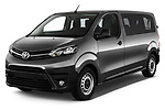 2017 Toyota Proace-Verso Medium 5 Door Passenger Van Angular Front stock photos of front three quarter view