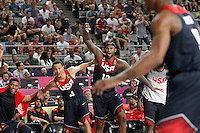 USA's Rudy Gay, Stephen Curry and DeMarcus Cousins celebrate during 2014 FIBA Basketball World Cup Quarter-Finals match.September 9,2014.(ALTERPHOTOS/Acero)