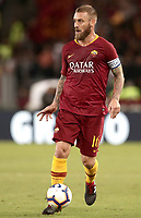 Football, Serie A: AS Roma - Frosinone, Olympic stadium, Rome, 26 September 2018. <br /> Roma's captain Daniele De Rossi in action during the Italian Serie A football match between AS Roma and Frosinone at Olympic stadium in Rome, on September 26, 2018.<br /> UPDATE IMAGES PRESS/Isabella Bonotto