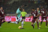23rd November 2019; Olympic Grande Torino Stadium, Turin, Piedmont, Italy; Serie A Football, Torino versus Inter Milan; Romelu Lukaku of Inter Milan scores the goal for 3-0 for Inter in the 55th minute - Editorial Use