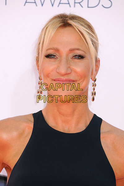 Edie Falco.The 64th Anual Primetime Emmy Awards - Arrivals, held at Nokia Theatre L.A. Live in Los Angeles, California, USA..September 23rd, 2012.emmys headshot portrait sleeveless blue .CAP/ADM/BP.©Byron Purvis/AdMedia/Capital Pictures.