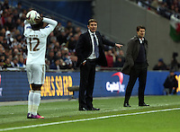 Pictured:  Michael Laudrup (R), Phil Parkinson (L). Sunday 24 February 2013<br /> Re: Capital One Cup football final, Swansea v Bradford at the Wembley Stadium in London.
