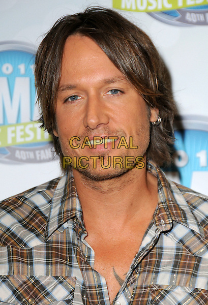 Keith Urban.2011 CMA Music Festival Nightly Press Conference held at LP Field. Nashville, Tennessee, USA..10th June 2011.headshot portrait white brown check stubble facial hair .CAP/ADM/GS.©George Shepherd/AdMedia/Capital Pictures.