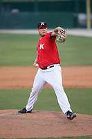 Kannapolis Intimidators relief pitcher Taylore Cherry (43) in action against the Hickory Crawdads at Kannapolis Intimidators Stadium on April 10, 2016 in Kannapolis, North Carolina.  The Intimidators defeated the Crawdads 10-3.  (Brian Westerholt/Four Seam Images)